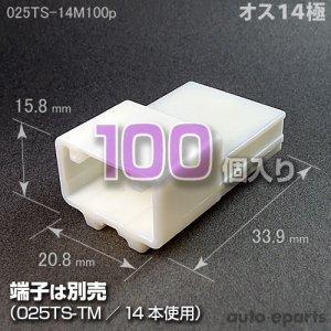 画像1: 025型TS/オス14極カプラ100pack