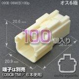 090型II/オス6極カプラ(B)100pack
