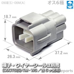画像1: 090型II防水/オス6極カプラ(A)
