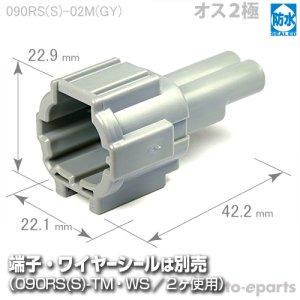 画像1: 090型RS防水/オス2極カプラ(GY)