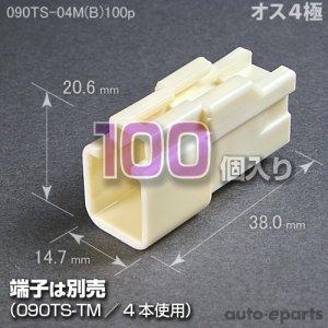 画像1: 090型TS/オス4極カプラ(B)100pack