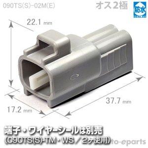 画像1: 090型TS防水/オス2極カプラ(E)