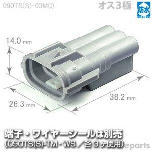 画像1: 090型TS防水/オス3極カプラ(直列タイプ)