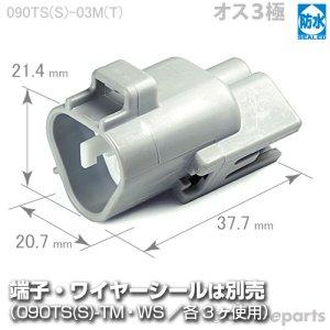 画像1: 090型TS防水/オス3極カプラ(三角タイプ)