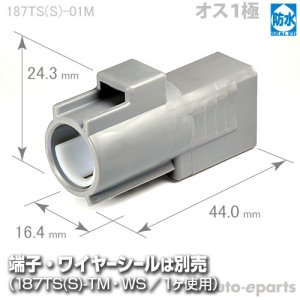 画像1: 187型TS防水/オス1極カプラ