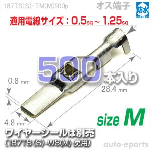 画像1: 187型TS防水/オス端子sizeM500pack