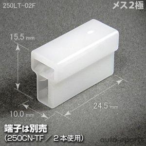 画像1: 250型LT/メス2極カプラ(ロックなし)
