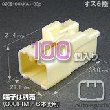 090型II/オス6極カプラ(A)100pack