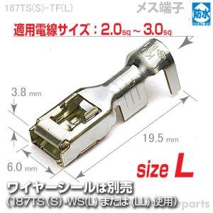 画像1: 187型TS防水/メス端子sizeL