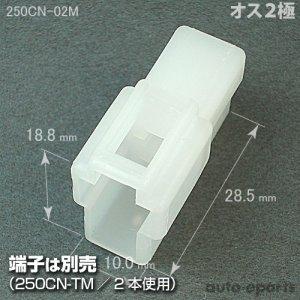 画像1: 250型CN/オス2極カプラ