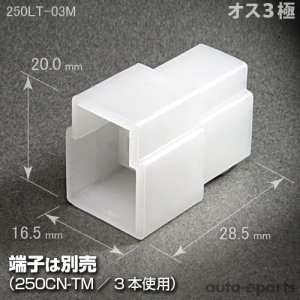 画像1: 250型LT/オス3極カプラ(ロックなし)